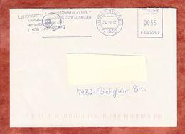 Brief, Francotyp-Postalia F685569, Landratsamt Ludwigsburg, 56 C, 2001 (68924) - Poststempel - Freistempel