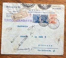 DIREZIONE PROV.POSTE FIRENZE 1/6/1923  SIGILLI POSTI SU RACC DEL  23/10/22  APERTA PER CONTROLLO . Vari Timbri E Note - 1900-44 Vittorio Emanuele III