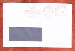 Brief, Francotyp-Postalia F90-5234, Raiffeisenbank Oberschleissheim, 80 Pfg, 1988 (68925) - Poststempel - Freistempel