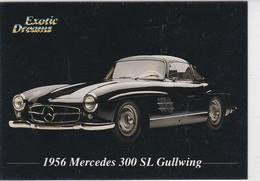 """MERCEDES BENZ 300SL 1956, Carte Publicitaire, """"Exotic Dreams"""", Au Dos Caractéristiques Du Véhicule - Altri"""
