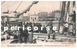 59  Dunkerque  Arrivée D'un Navire Islandais  Gamins Dans Les Mâtures - Dunkerque