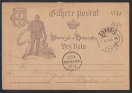 B 637) Portugal 1894 Mi# P 25 O + Jubiläums-Stempel: 500 J Heinrich Seefahrer - Geschichte