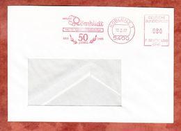 Brief, Francotyp-Postalia F90-4568, Roemhildt, 80 Pfg, Koblenz 1987 (68926) - Poststempel - Freistempel