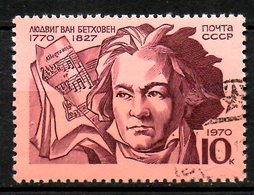 URSS. N°3677 Oblitéré De 1970. Beethoven. - Musique