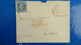 Lettre Etoile De Paris N° 31 Cachet Corps Législatif Du 2 Juillet 1870 - Marcophilie (Lettres)