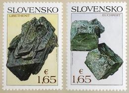 Slowakei Slovakia 2018 Michel Nr. 853-54 Naturschutz Mineralien Libethenit - Slowakische Republik