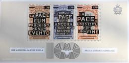 San Marino 2018 Block 84 100 Jahre Ende Des 1. Weltkriegs Frieden Pace - San Marino