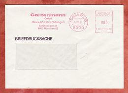 Briefdrucksache, Francotyp-Postalia F90-4385, Gartenmann, 80 Pfg, Muenchen 1991 (68927) - Poststempel - Freistempel