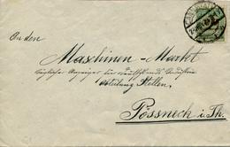 CANNSTADT - 23.NOV.23 , Brief Nach Pössneck - Lettres & Documents