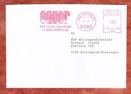 Brief, Francotyp-Postalia F90-4311, Sauer, 100 Pfg, Bad Hersfeld 1991 (68928) - Poststempel - Freistempel