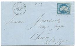 N° 22 BLEU NAPOLEON SUR LETTRE / LA TREMBLADE POUR CHENAC 1863 - Marcophilie (Lettres)