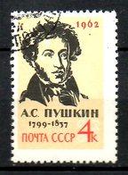 URSS. N°2493 Oblitéré De 1962. Pouchkine. - Ecrivains