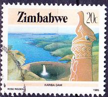 Simbabwe - Kariba-Staudamm (Mi.Nr.: 320) 1985 - Gest. Used Obl. - Zimbabwe (1980-...)