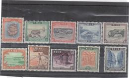 M12 - NIUE 80 / 89 ** MNH De 1950 - Cartographie - Résolution De Cook - Sites - - Niue