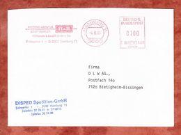 Brief, Francotyp-Postalia F90-3228, Reederei-Agentur H & B, 100 Pfg, Hamburg 1991 (68930) - Poststempel - Freistempel