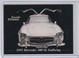 """MERCEDES BENZ 300SL GULLWING, Carte Publicitaire, """"Exotic Dreams"""",au Dos Caractéristiques Du Véhicule - Altri"""