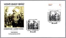 VICENTE BLASCO IBAÑEZ - Corresponsal I Guerra Mundial. Valencia 2018 - Ecrivains
