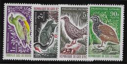 Côte D'Ivoire N°249/252 - Oiseaux - Neuf ** Sans Charnière - TB - Côte D'Ivoire (1960-...)
