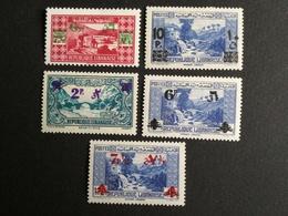 GRAND LIBAN  N° 181/185 Sauf Le 182  COTES17 Eu - Grand Liban (1924-1945)