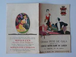 """1936 Programme Grande Fête De Gala Organisée Par Cercle Notre-Dame De Laeken Au """" Théâtre"""" Rue Stéphanie Pub Spontin - Laeken"""