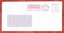 Brief, Francotyp-Postalia F90-4659, Krause, 80 Pfg, Cleebronn 1987 (68931) - Poststempel - Freistempel