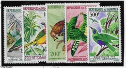 Dahomey Poste Aérienne N°37/41 - Oiseaux - Neuf ** Sans Charnière - TB - Timbres