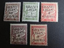 GRAND LIBAN Taxe N°1/5*  COTES 35 Eu - Grand Liban (1924-1945)