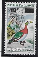 Dahomey Poste Aérienne N°37 Surchargé 10 F - Oiseaux - Neuf ** Sans Charnière - TB - Timbres