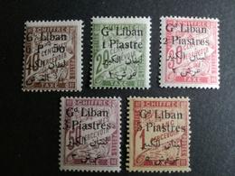 GRAND LIBAN Taxe N°6/10*  COTES 35 Eu - Grand Liban (1924-1945)