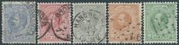 OLANDA-HOLLAND-NEDERLAND 1872-1888 King William III Of The Netherlands,5-10-12½-15-20C -Used-Value€16,00 - 1852-1890 (Guillaume III)