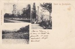 BORDIGHERA-IMPERIA-UN SALUTO TIPO  GRUSS AUS-3 VEDUTE-CARTOLINA VIAGGIATA IL 24-4-1904 - Imperia