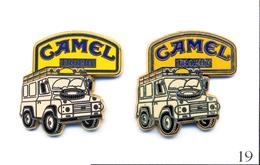 LOT 2 Pin's - Automobile - Rallye Camel Trophy - 2 Tons Différents. Est. Arthus Bertrand. Zamac. T418-19. - Rallye