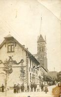 08 - Carte Photo à Localiser - Fete Nationale , Ecole Pavoisée , Couronnes , Drapeaux - Carte Envoyée De Signy L'Abbaye - Frankrijk