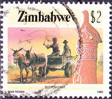 Simbabwe - Eselkarren (Mi.Nr.: 329) 1985 - Gest. Used Obl. - Zimbabwe (1980-...)