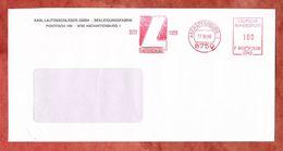 Brief, Francotyp-Postalia F90-5290, Lautenschlaeger, 100 Pfg, Aschaffenburg 1989 (68934) - Poststempel - Freistempel