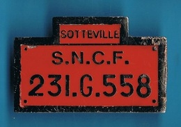 PIN'S //  ** SOTTEVILLE / S.N.C.F. // 231.G.558 ** - TGV