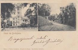 BORDIGHERA-IMPERIA-UN SALUTO TIPO  GRUSS AUS-2 VEDUTE-CARTOLINA VIAGGIATA IL 24-4-1904 - Imperia