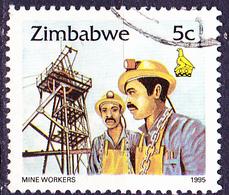 Simbabwe - Minenarbeiter (Mi.Nr.: 542) 1995 - Gest. Used Obl. - Zimbabwe (1980-...)