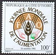 """Cote Ivoire YT 592 """" Journée Mondiale De L'alimentation """" 1981 Neuf** - Côte D'Ivoire (1960-...)"""