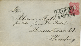 RETHEM - 1886 , Ganzsache Nach Hamburg - Deutschland