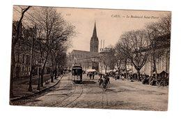 CPA 14 - Caen - Le Boulevard Saint Pierre , Tramway - Caen