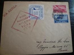 1947  Volo Milano Roma 10 Aprile 1947 - 6. 1946-.. Repubblica