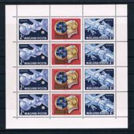 Ungarn 1969 Raumfahrt Mi.Nr. 2492/93 Kleinbogen A ** - Ungarn