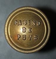 Rare ! Bouton De Croupier Casino De Puys (Dieppe) Normandie - Casino