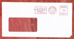 Briefvorderseite, Francotyp-Postalia F90-5614, Bke Bildtechnik, 130 Pfg, Noerten-Hardenberg 1985 (68938) - Poststempel - Freistempel