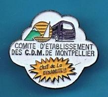 PIN'S //  ** COMITÉ D'ÉTABLISSEMENT / DES  C.D.M. / DE MONTPELLIER ** - Badges