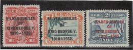 M12 - NIUE 56 / 58 * Charnière De 1935 - SILVER JUBILEE OF KING GEORGE V. - Niue