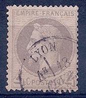 FRANCE - 27  4C GRIS NAPOLEON LAURE OBL USED COTE 90 EUR - 1863-1870 Napoléon III Lauré
