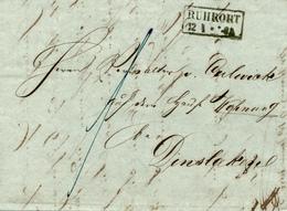 RUHRORT - 1850 , Brief Mit Inhalt Nach Dinklage - Preussen