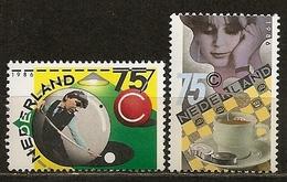 Pays-Bas Netherlands 1986 Sport Biljards, Checkers Set Complete MNH ** - 1980-... (Beatrix)